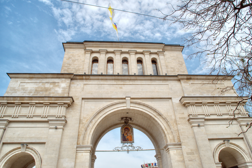 Эконом памятник Арка Родники Прямоугольный вертикальный памятник Лальск