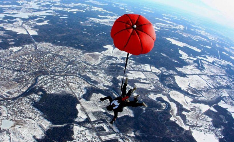 Решиться на прыжок с парашютом