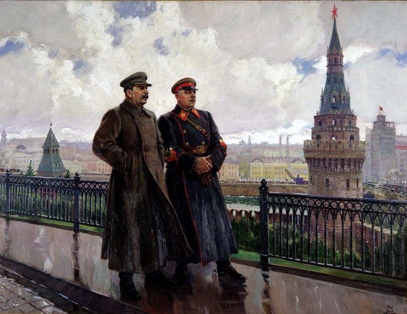 «И.В. Сталин и К.Е. Ворошилов в Кремле», Александр Герасимов