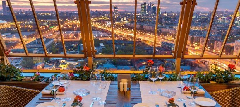 Смотровая площадка у нового здания РАН ресторан Sky Lounge