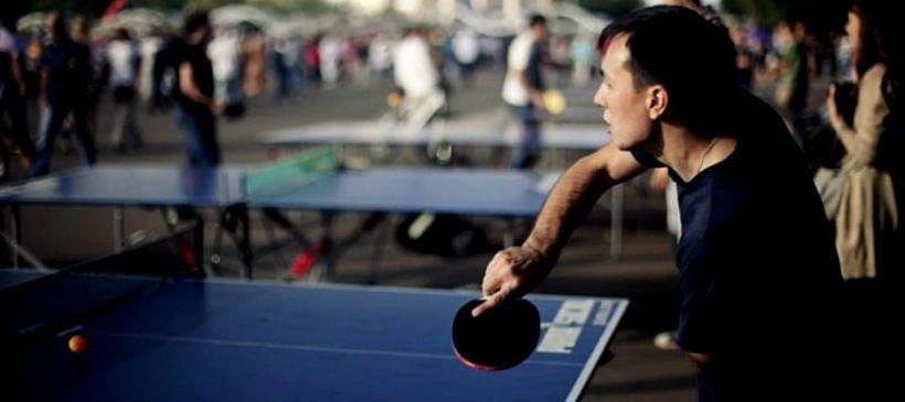 Пинг-понг на Фонтанной площади