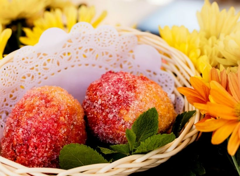 Песочные персики в кафе «Вареничная №1»