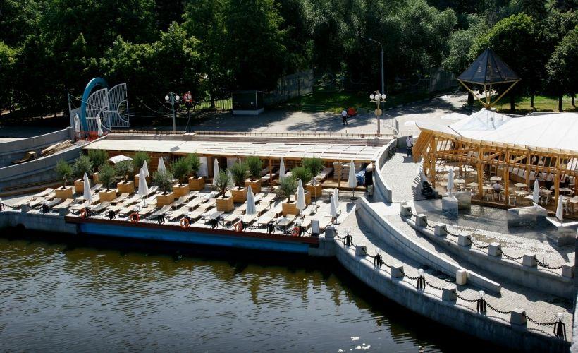 Пляжи в парке Горького