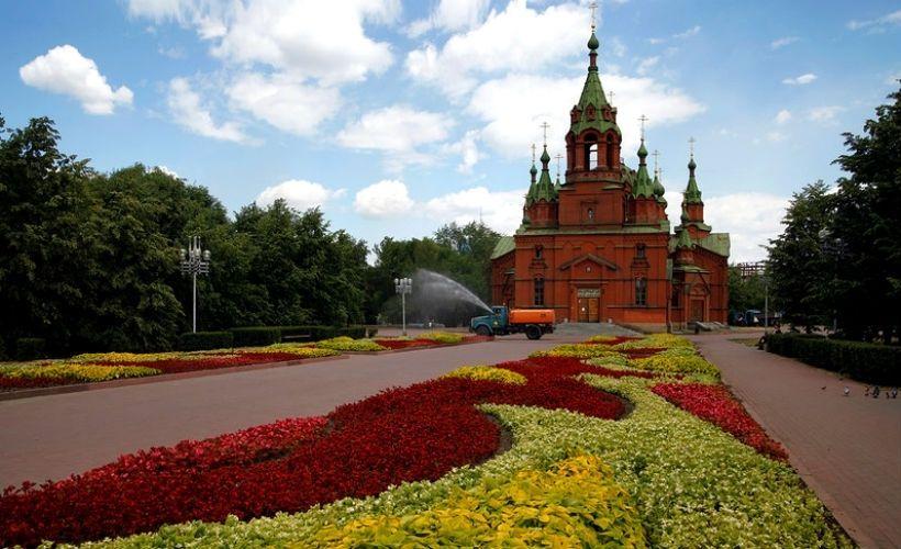 Алое поле и Храм благоверного князя Александра Невского