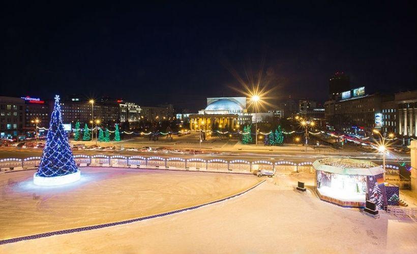 Народные гулянья на площади Ленина