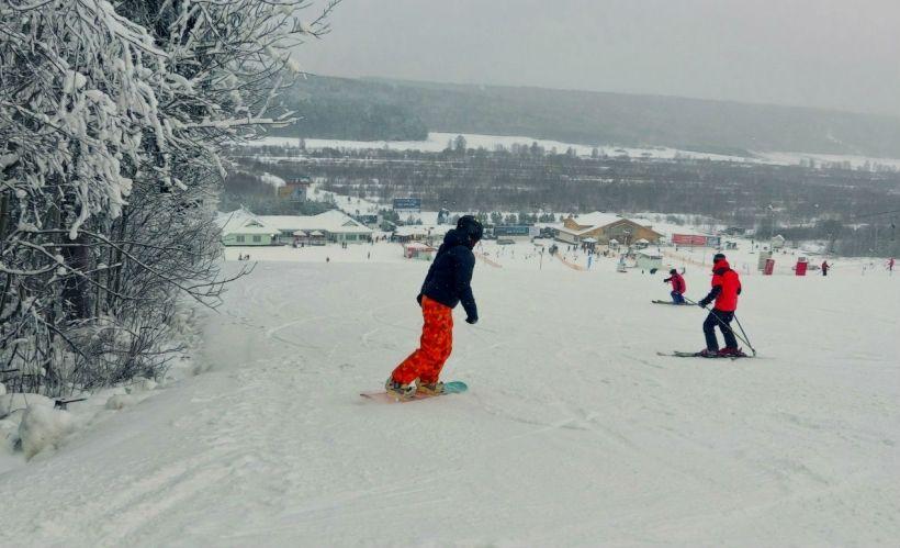 Сноубординг в «Снежном»