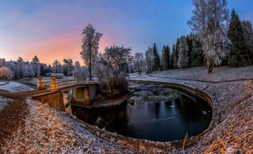Зимние забавы в Павловском парке