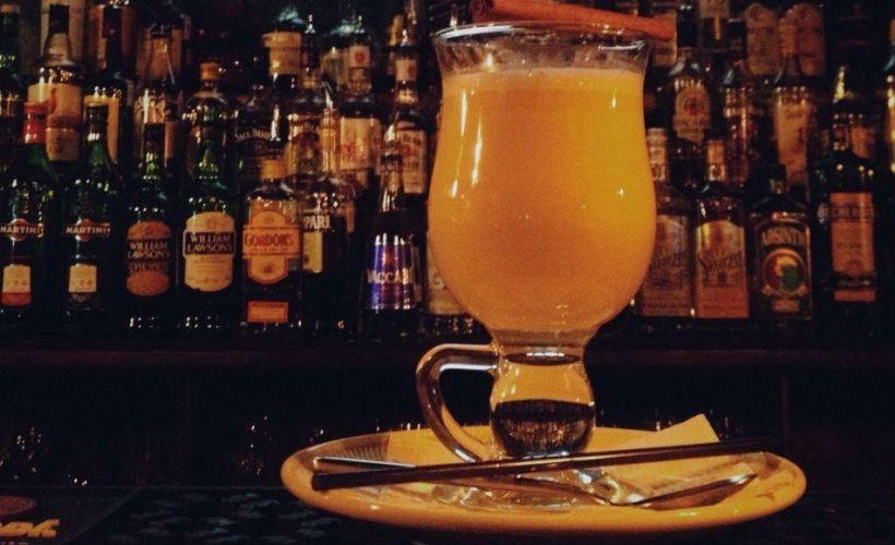 Hot buttered rum в баре «Соль»