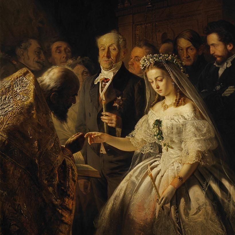 «Неравный брак», В.В. Пукирев