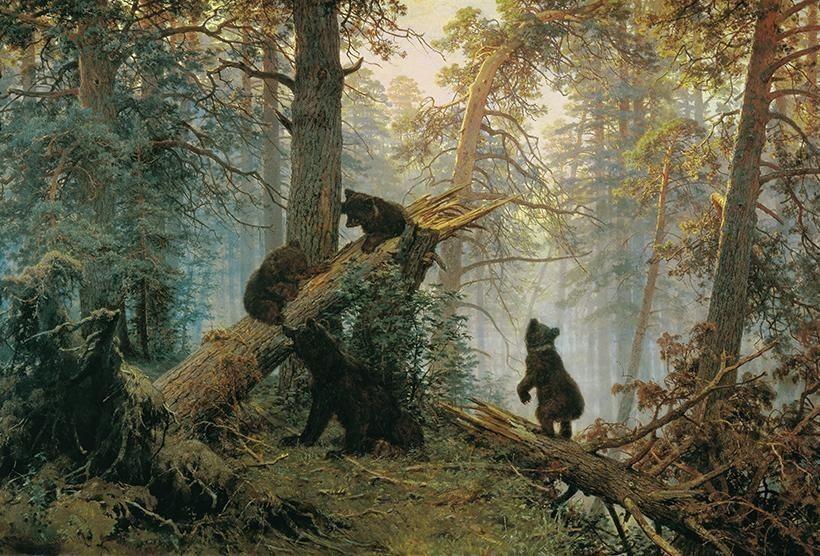 «Утро в сосновом лесу», И.И. Шишкин