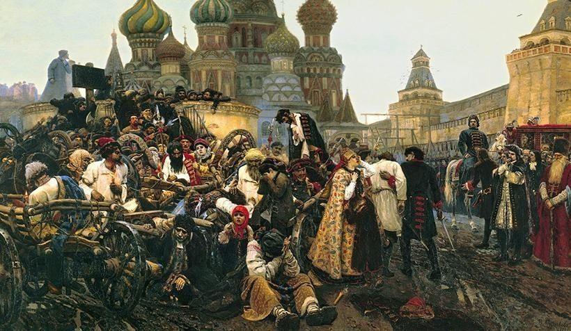 «Утро стрелецкой казни», В.И. Суриков