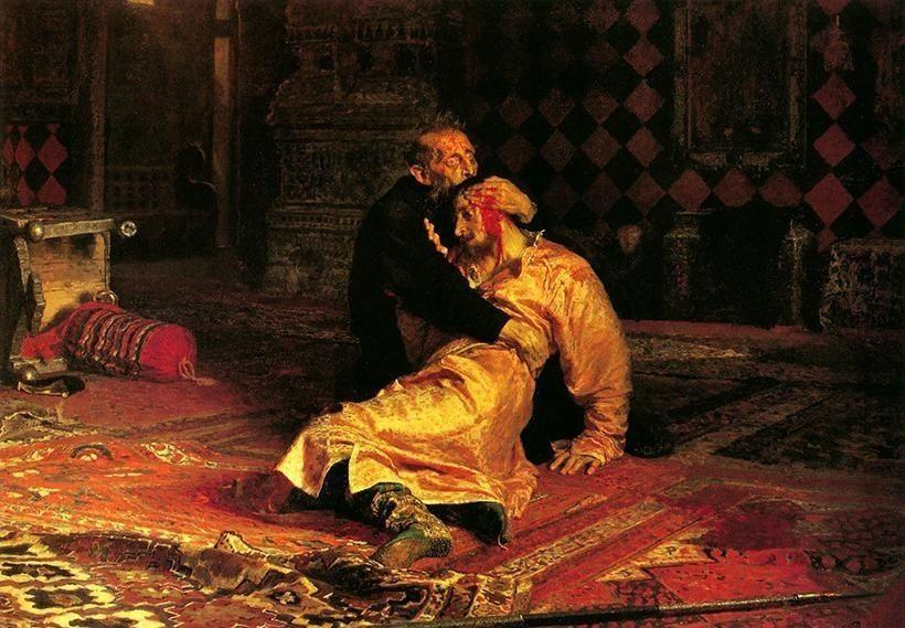 «Иван Грозный убивает своего сына», И.Е. Репин