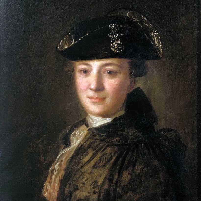 «Портрет неизвестного в треуголке», Ф.С. Рокотов