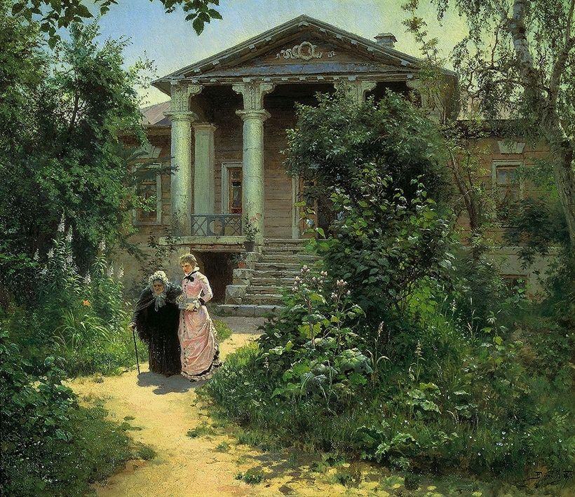 «Бабушкин сад», В.Д. Поленов