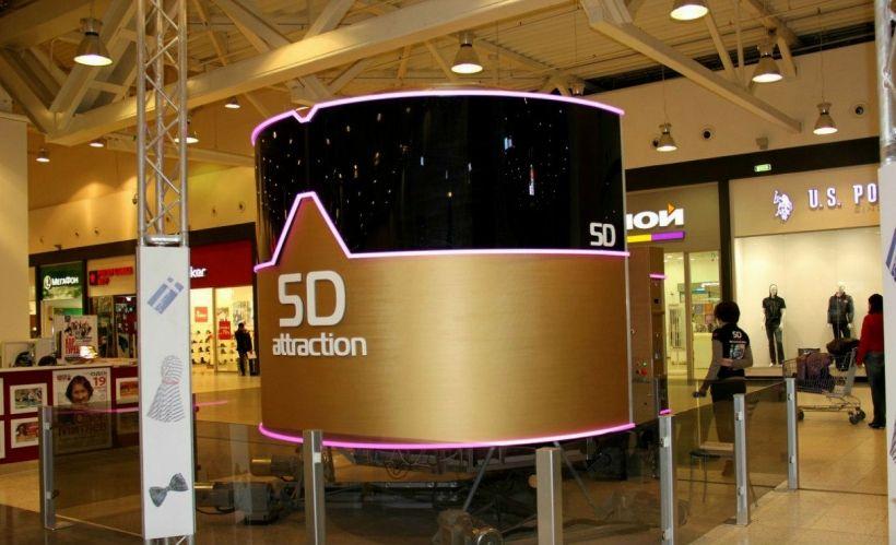 Интерактивный 5D-аттракцион в «МЕГЕ»