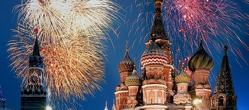 Новогодние гулянья на Красной площади