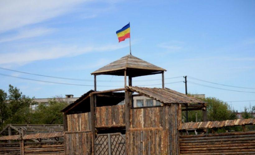 Деревянная средневековая казачья застава в Волжском