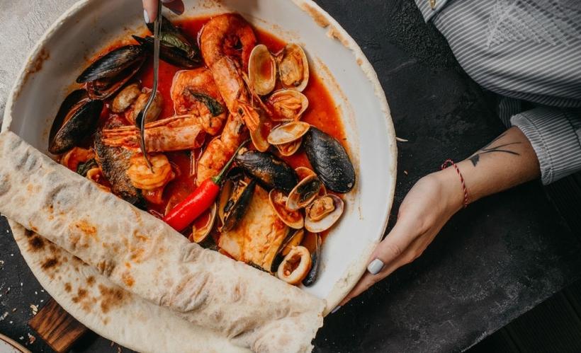 Соте из морепродуктов в Il Forno
