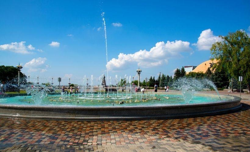 Ставрополь — Обзорная площадка и «Лавочка влюблённых» на Крепостной горе