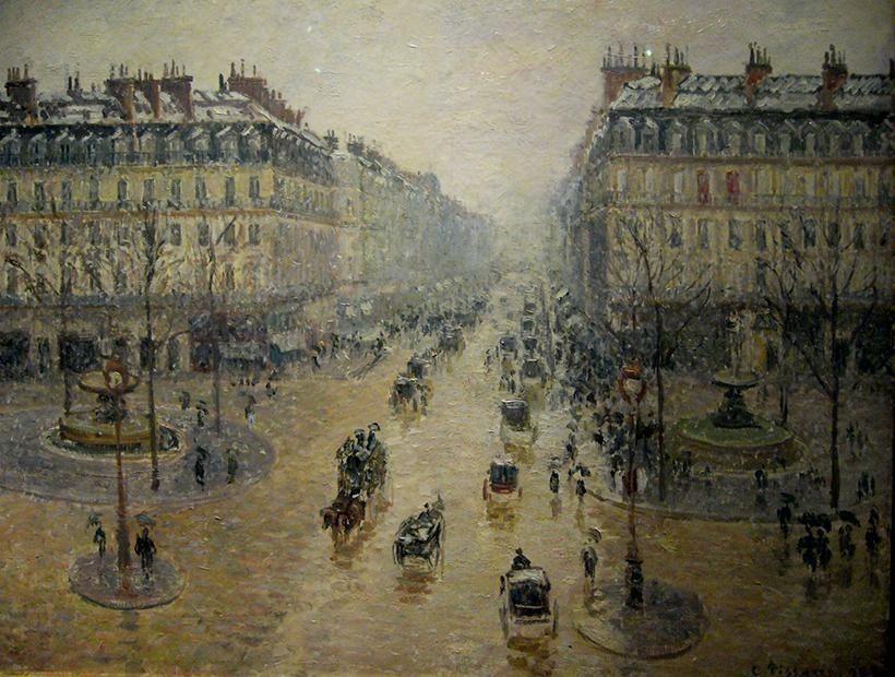 «Оперный проезд в Париже», Камиль Писсарро