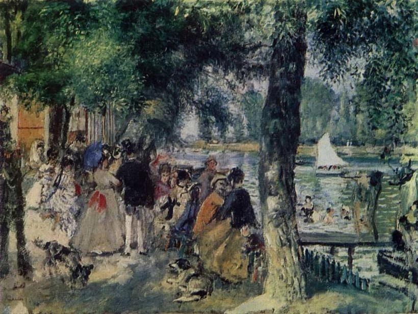 «Купание в Сене», Огюст Ренуар