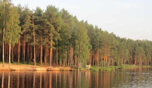 Пляж на Коркинском озере